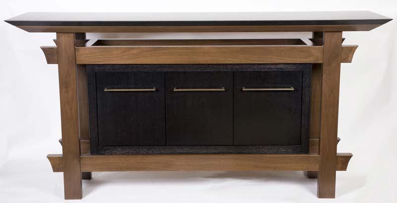 Side Table with Cabinetry