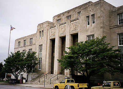 Main entrance of the Asheville Federal Court House