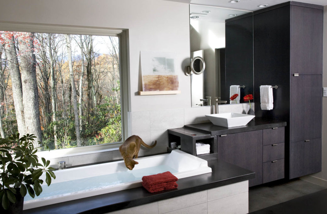 modern-style bathroom cabinetry