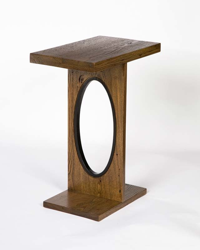 side table with hole