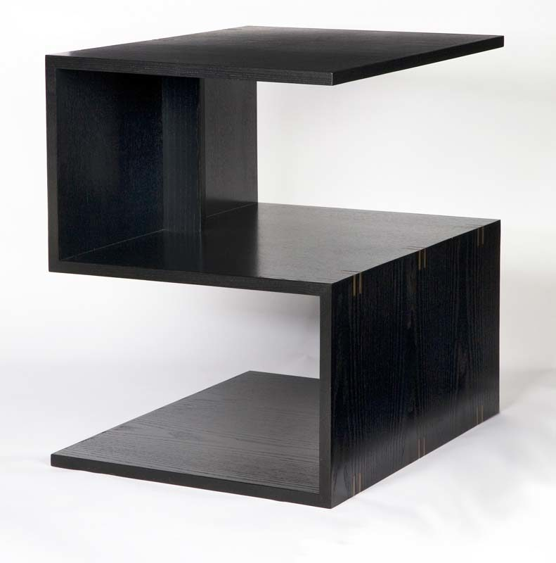 s-shaped side table