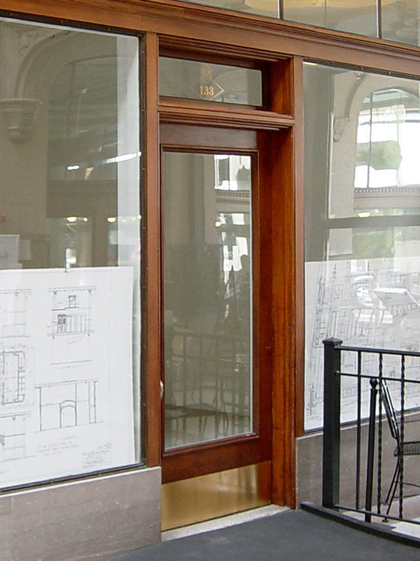 Grove Arcade renovation reproduction doors