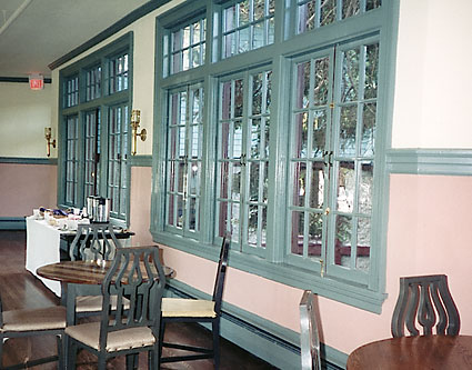 Restoration of historic Manor Inn Ballroom windows