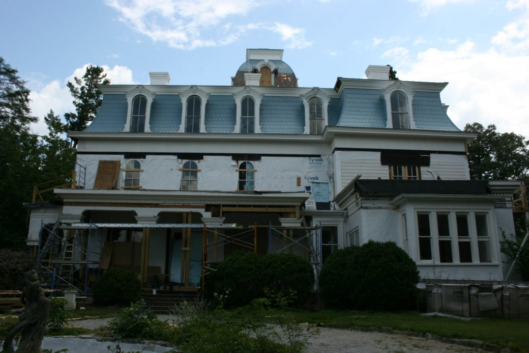 Side of main house under renovations