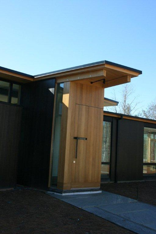 Front entry with pivot door