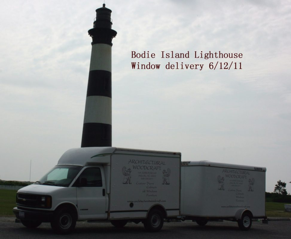Window delivery to Bodie Island Lighthouse