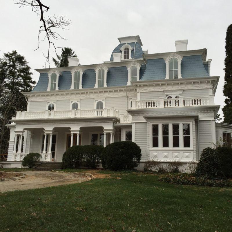 Back of main house restored