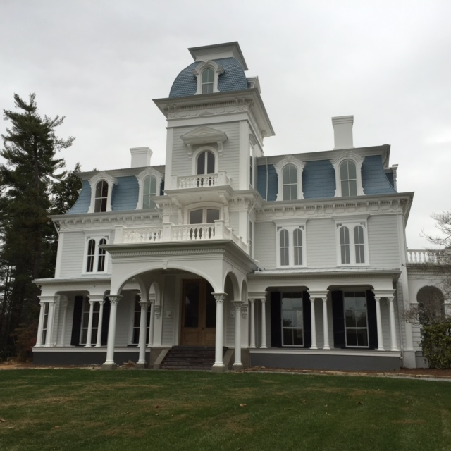 front of main house restored