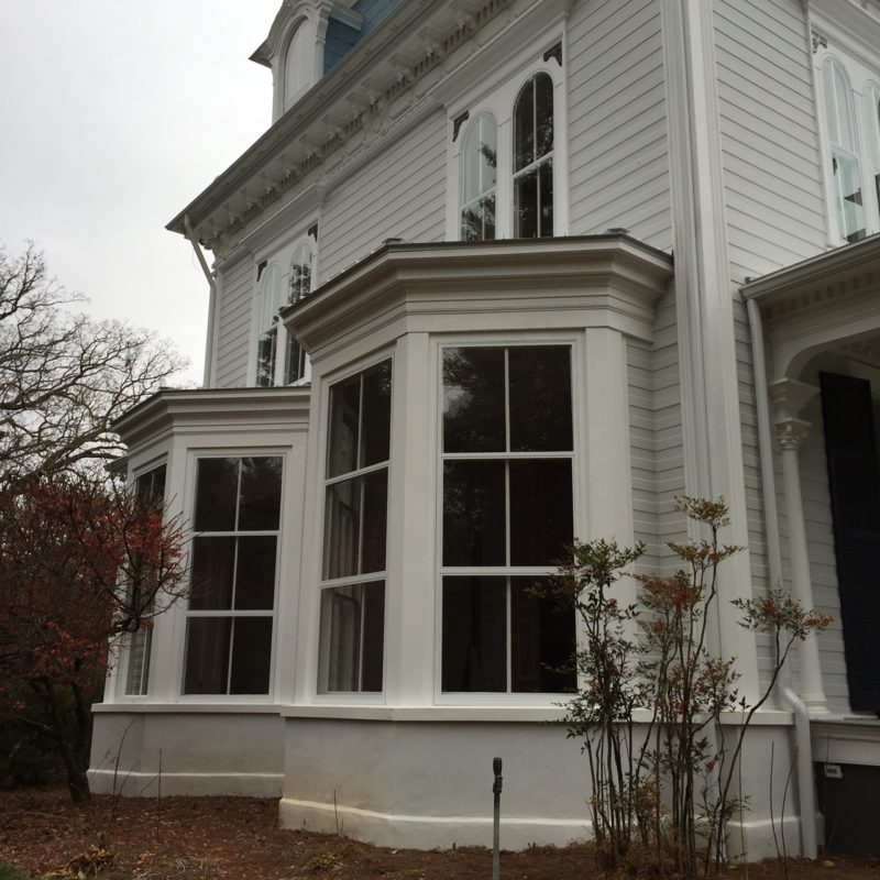View of side windows