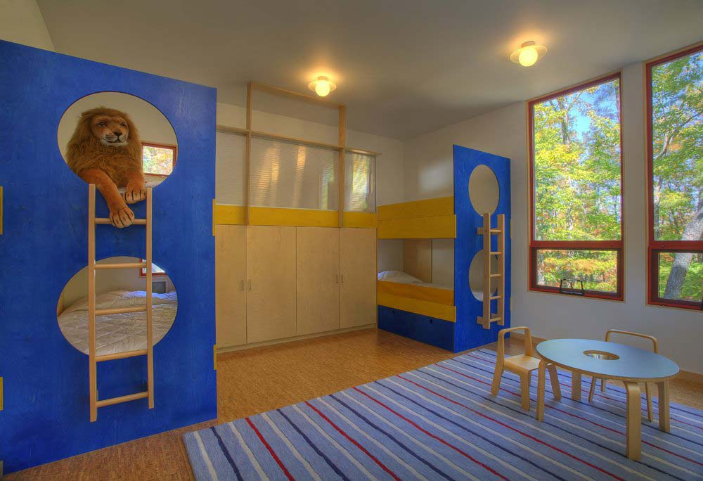 We built the bunk beds for the children's room.