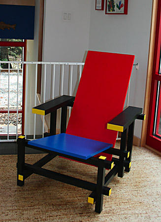 We built this chair to match the interior design of the house.