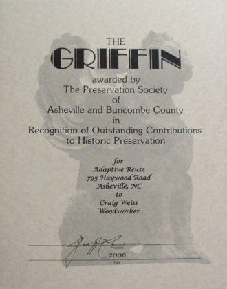 Griffin Historic Restoration Award 2006