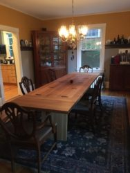 Dining table view