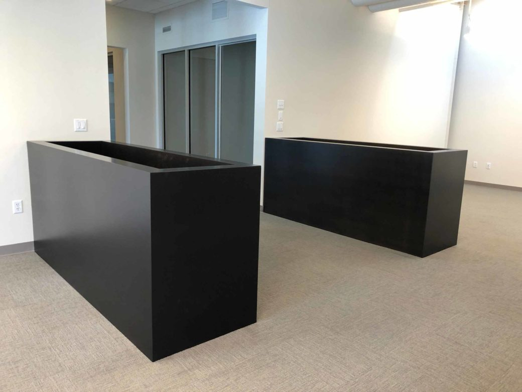 steel welded and painted planters room dividers