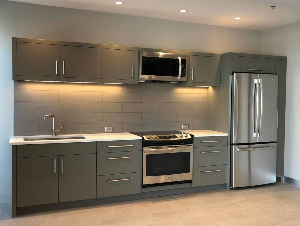 modern kitchen design with cabinetry