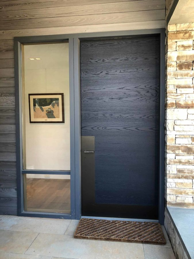 Gray Modern Exterior Entrance Door Architectural