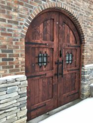 Greenman Brewery heavy exterior doors