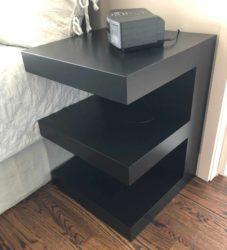 custom nightstand / bedside table