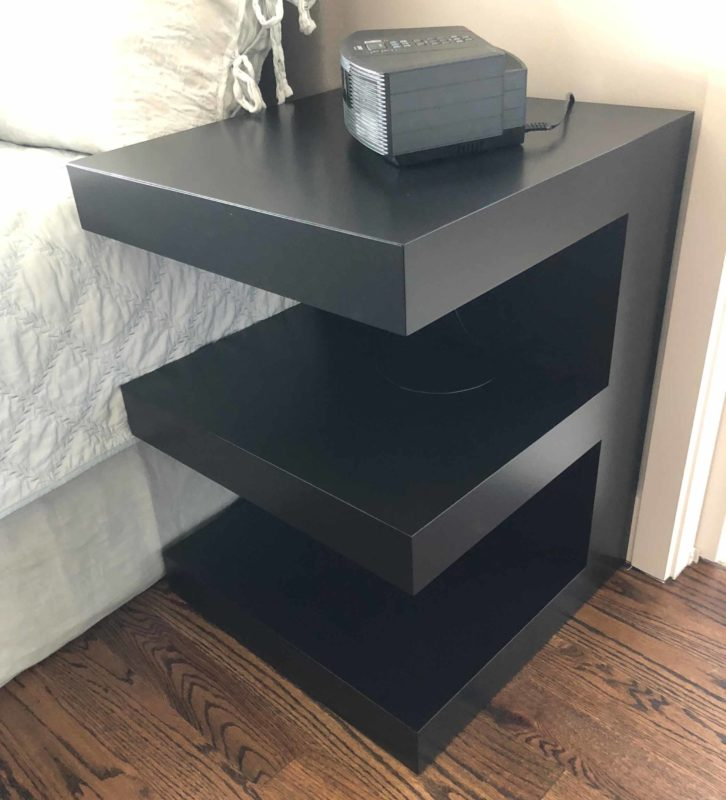 custom nightstand / bedside table