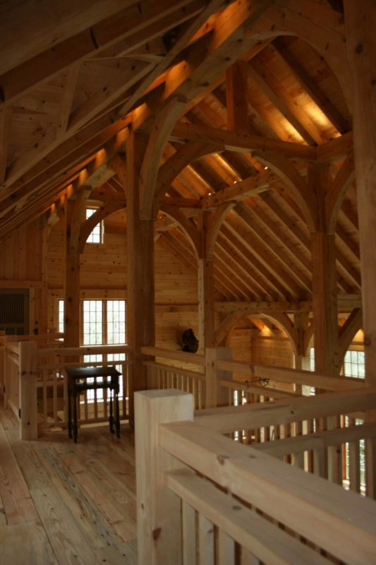 timber framed home interior