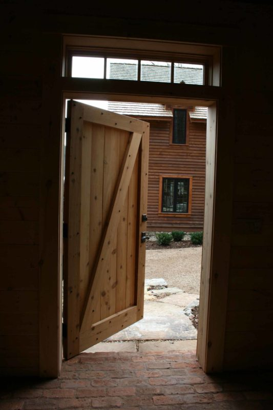 hand-built z-batten door