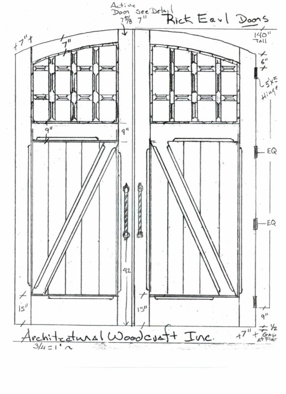 custom stable doors plans