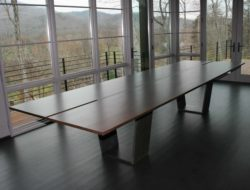 Steel and wood table custom furniture