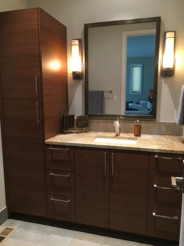 guest bathroom cabinetry
