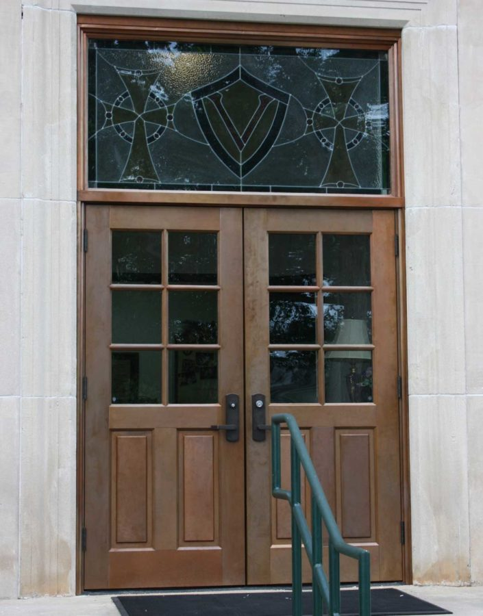 Copper Clad 6 Lite Entrance Doors With Transom