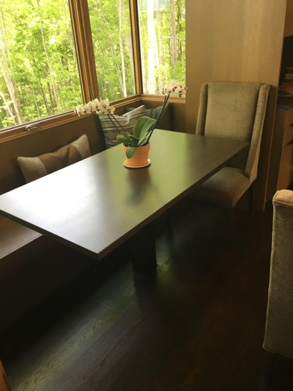 breakfast nook table and bench