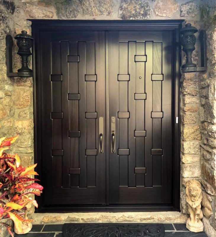 custom asian style entrance doors