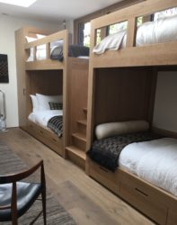 Bunk beds in quarter-sawn white oak