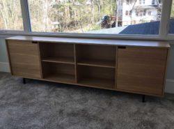 custom built mid-century modern sideboard