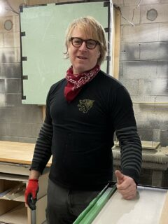 Bill Campbell, furniture and cabinet finisher