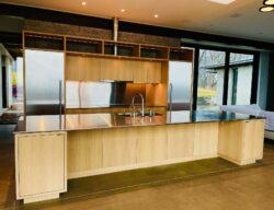 Jenkins Brown Rd custom kitchen cabinetry of resawn white oak